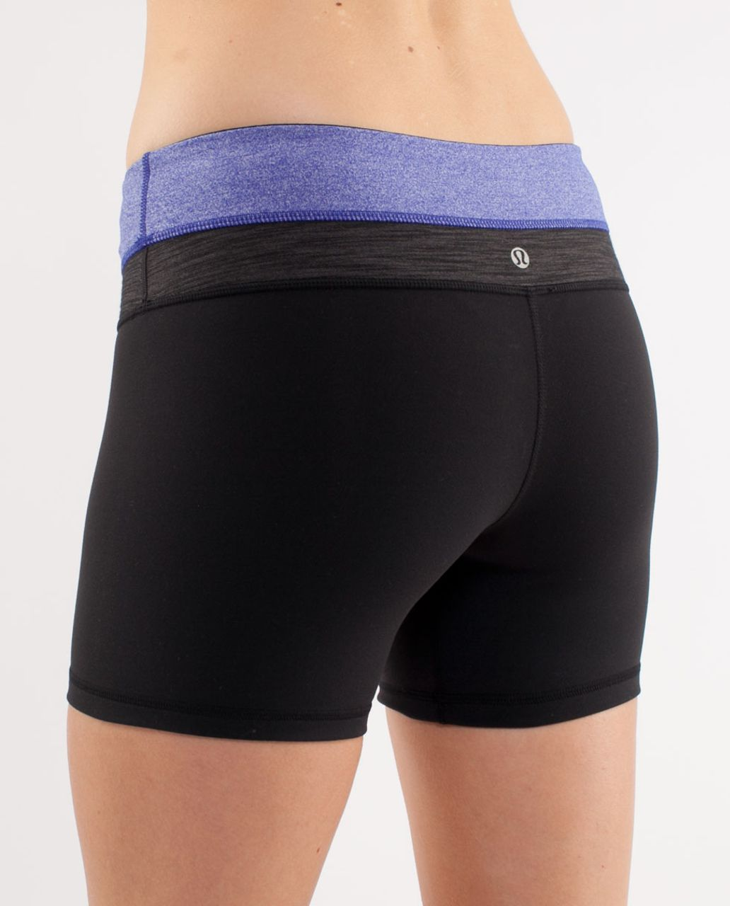 Lululemon Groove Short - Black /  Heathered Pigment Blue /  Black Deep Coal Slub Denim