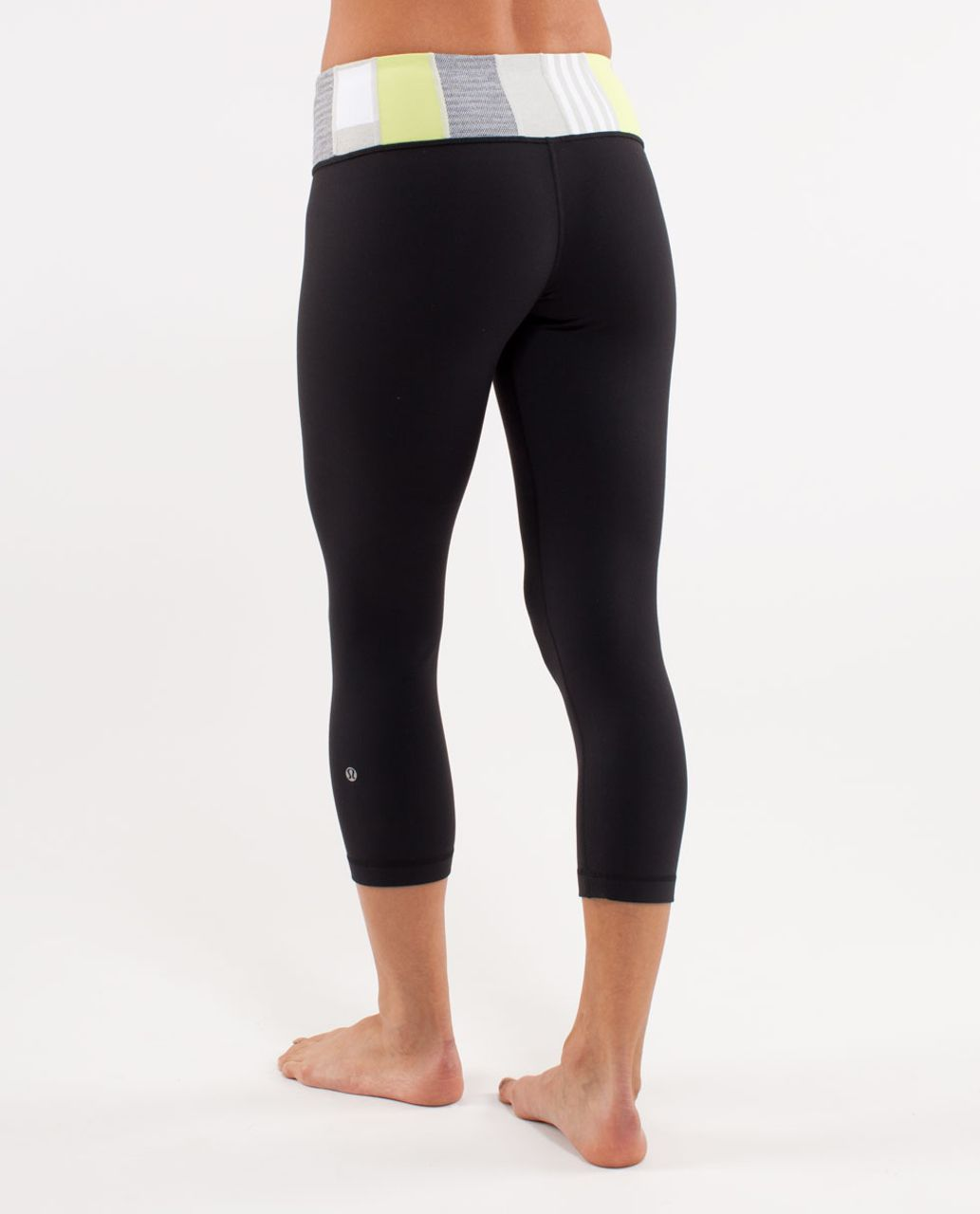 Lululemon Wunder Under Crop - Black /  Quilting Winter 24