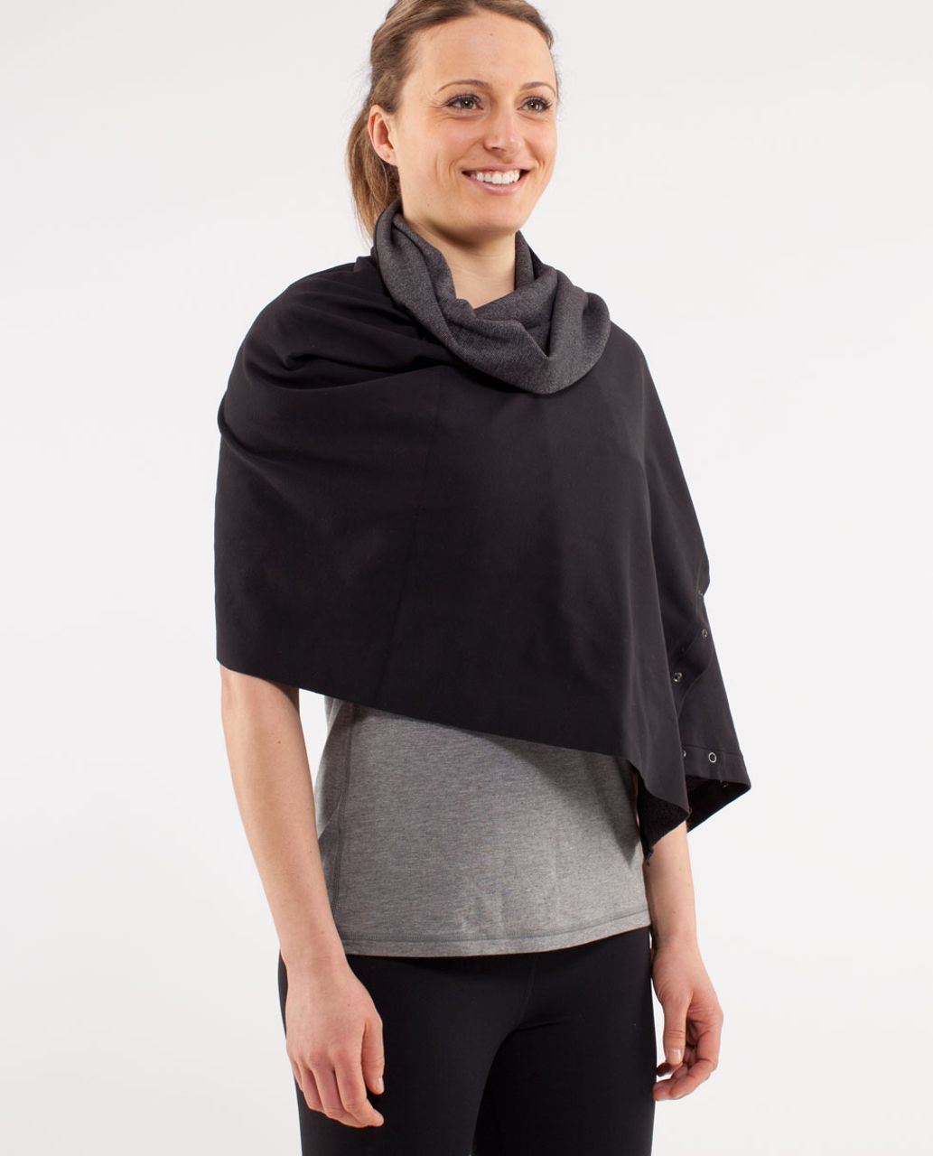 Lululemon Vinyasa Scarf - Black /  Wee Stripe Black Heathered Black