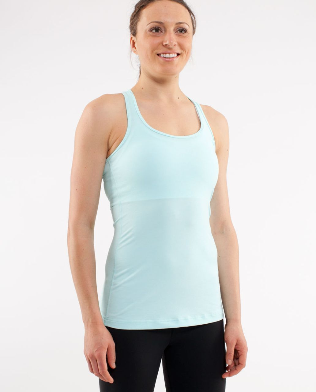 Lululemon Cool Racerback - Heathered Aquamarine