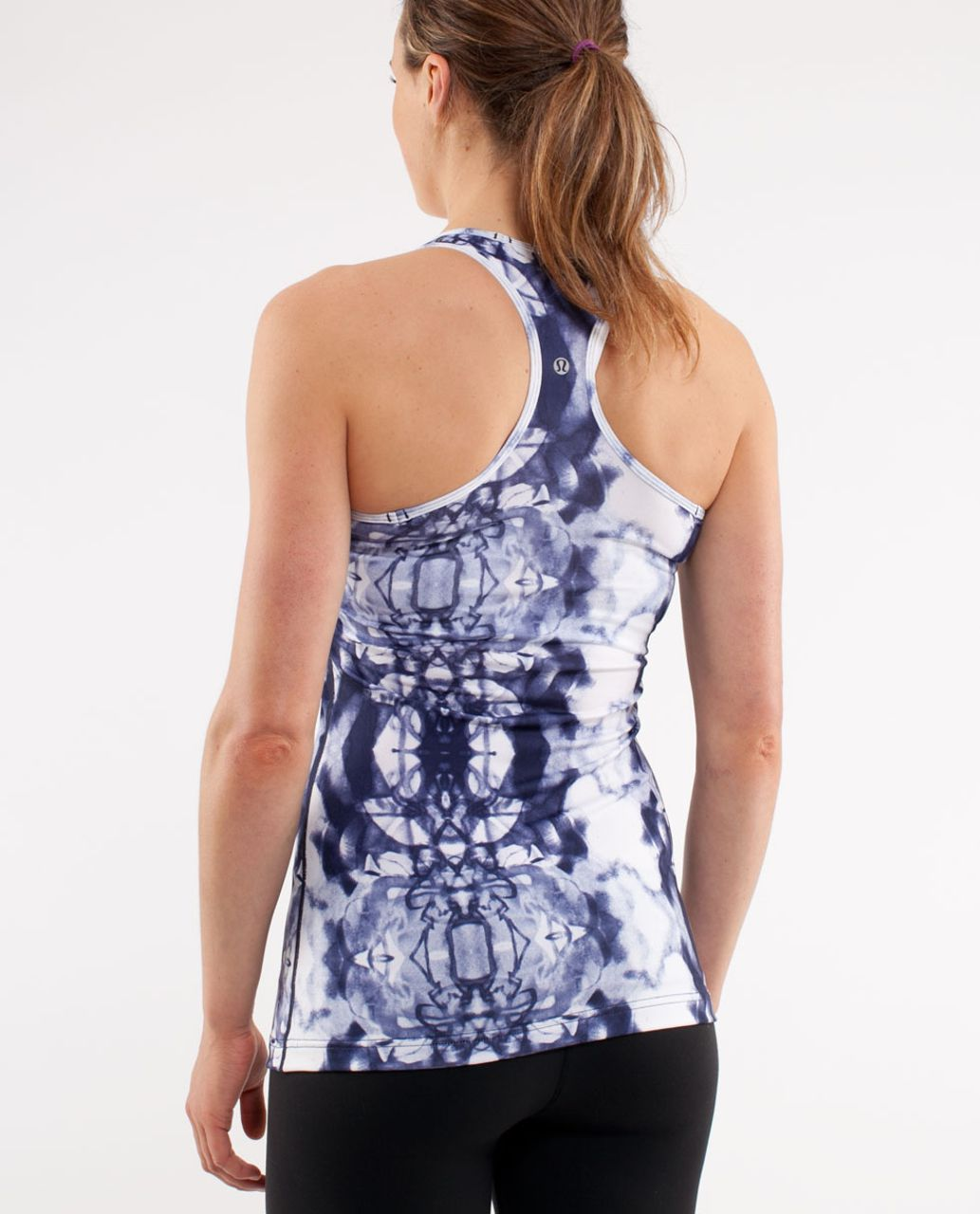 Lululemon Cool Racerback - Ink Blot White Deep Indigo
