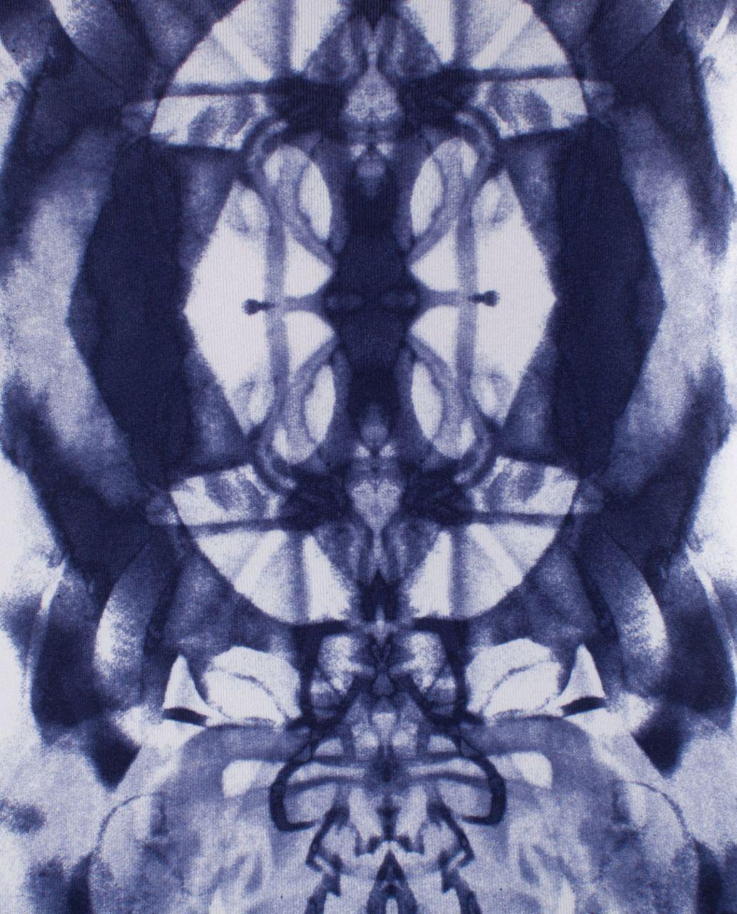 Lululemon Power Y Tank - Ink Blot White Deep Indigo