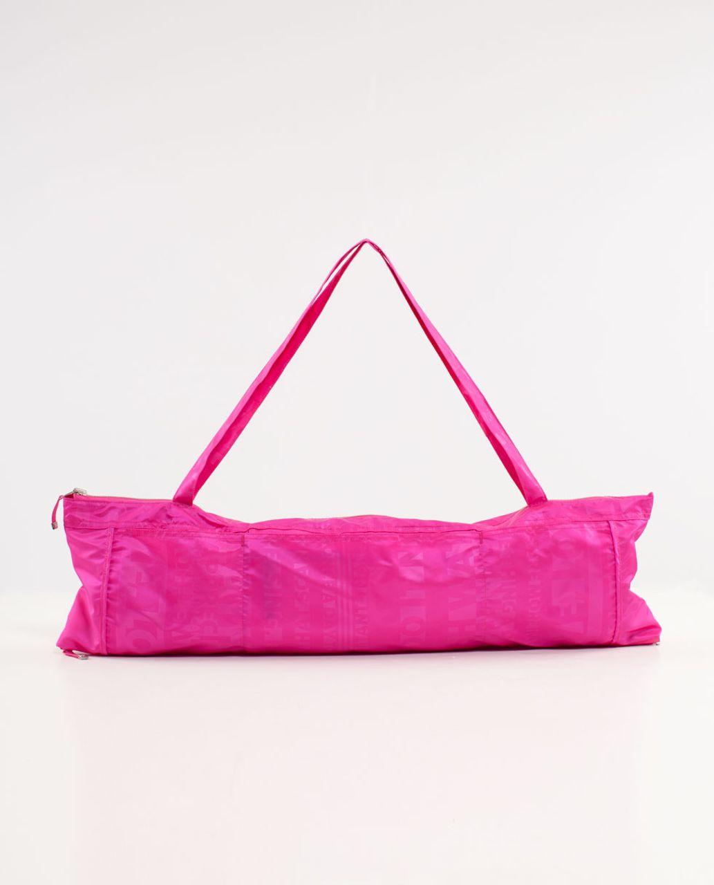 Lululemon Yogi Tote III - Discover Manifesto Embossed Paris Pink