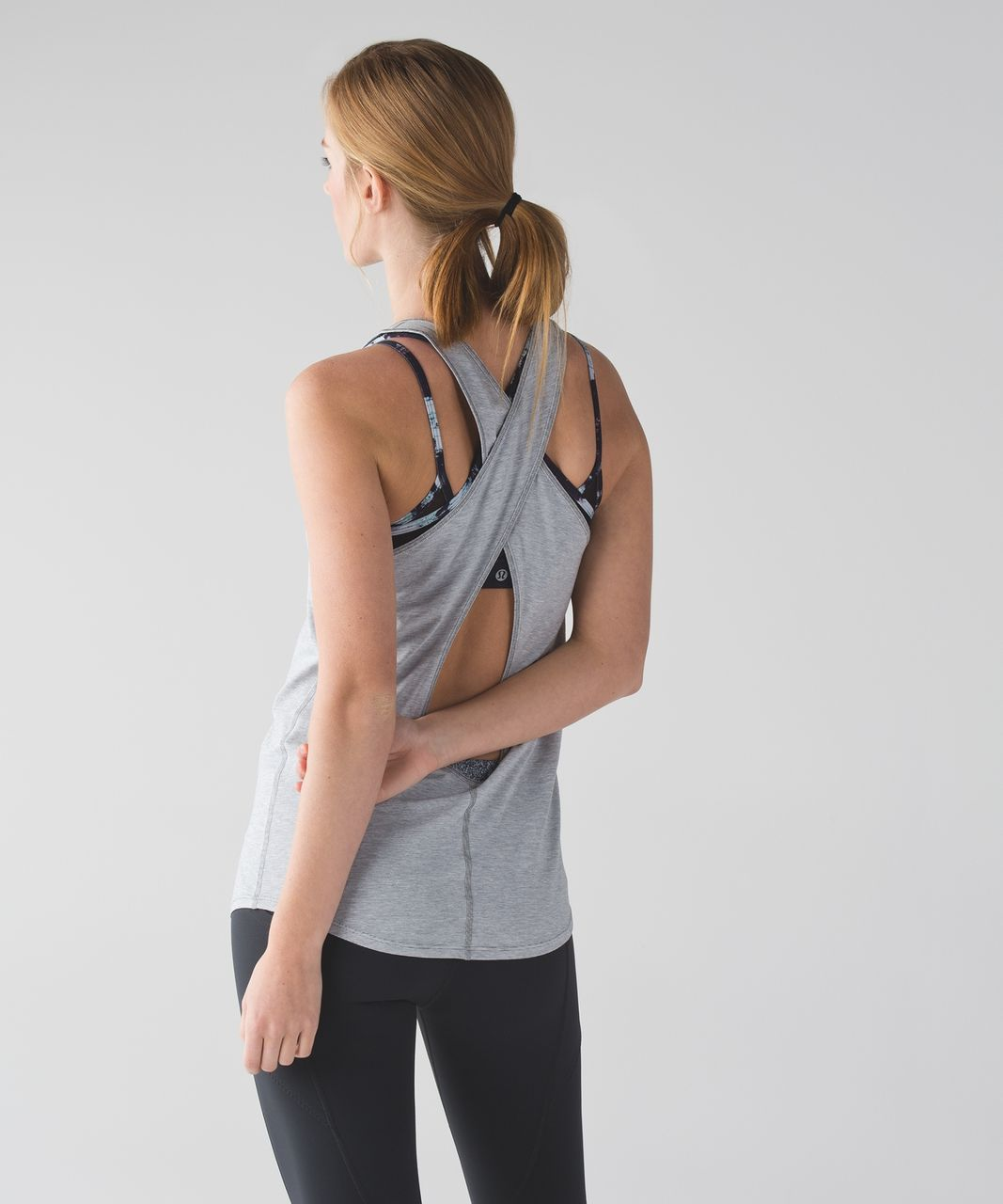 Lululemon Physically Fit Tank - Wee Stripe White Heathered Medium Grey