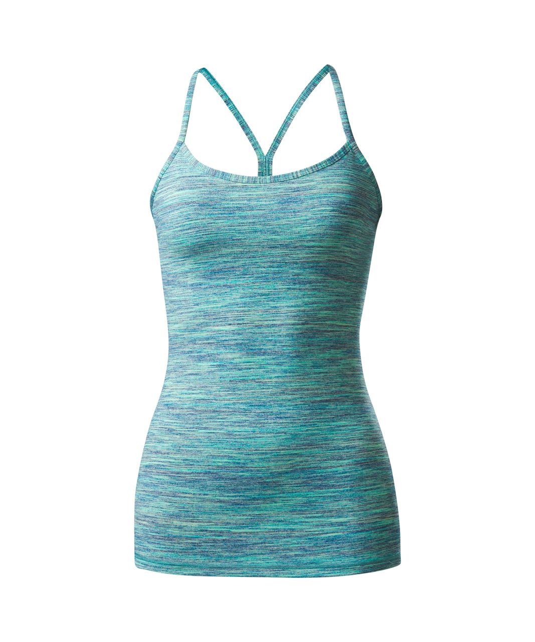 Lululemon Power Y Tank *Luon - Space Dye Camo Alberta Lake Fresh Teal