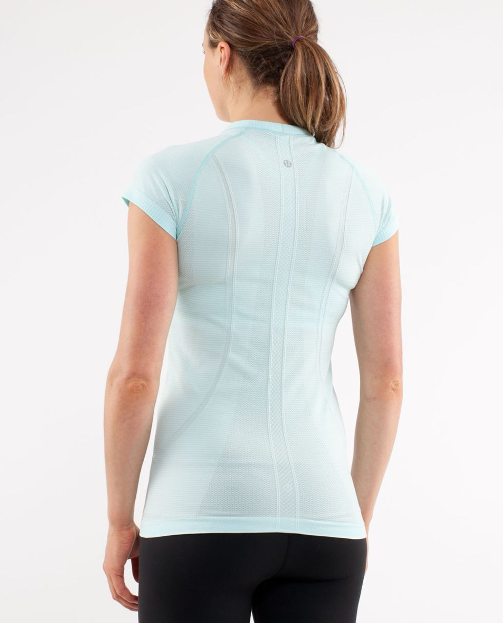 Lululemon Run:  Swiftly Tech Short Sleeve - Aquamarine