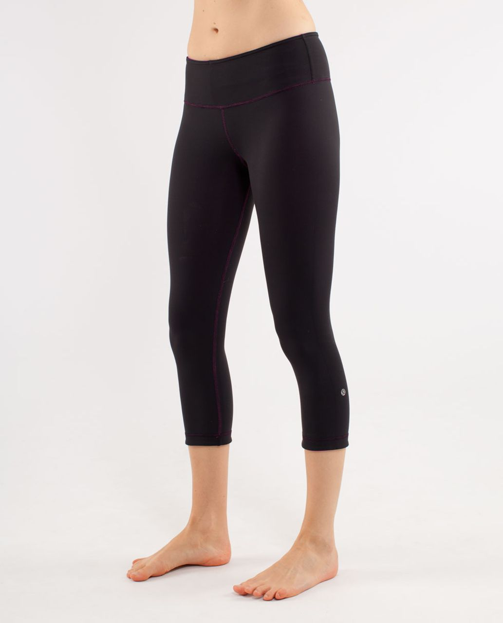 Lululemon Wunder Under Crop *Reversible - Black /  Paris Pink