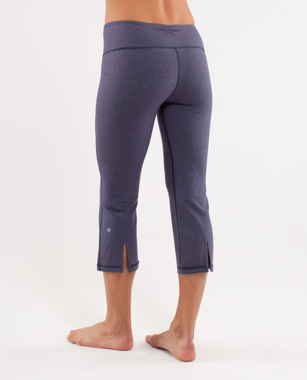 Lululemon Gather & Crow Crop - Heathered Deep Indigo