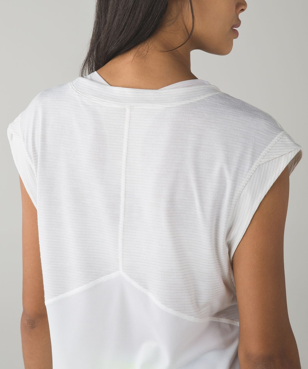 Lululemon Get Sweat Tee - Heathered White / White