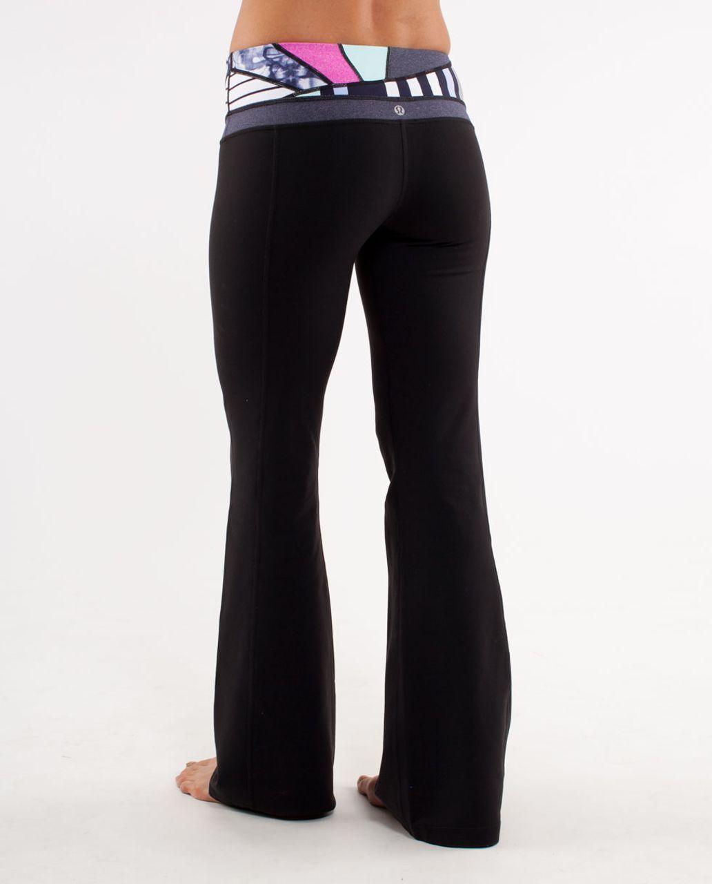 Lululemon Groove Pant (Tall) - Black /  Quilting Spring 13 /  Heathered Deep Indigo