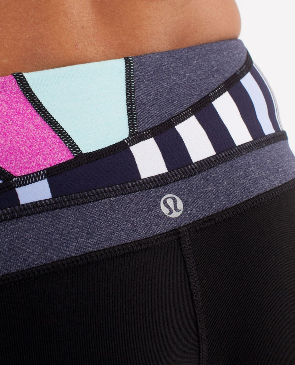 Lululemon Groove Pant (Tall) - Black /  Quilting Spring 13 /  Heathered Deep Indigo