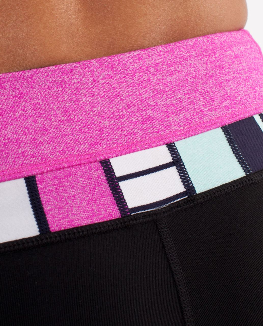 Lululemon Groove Pant (Tall) - Black /  Heathered Paris Pink /  Quilting Spring 14