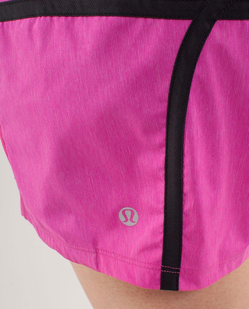 Lululemon Run:  Tracker Short II - Paris Pink /  Black