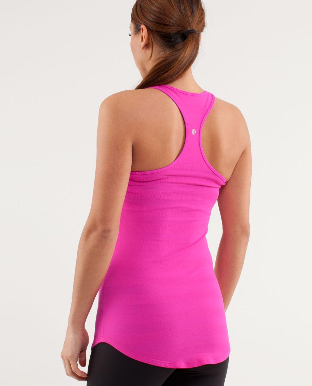 Lululemon Cool Racerback *Striped Rib - Paris Pink