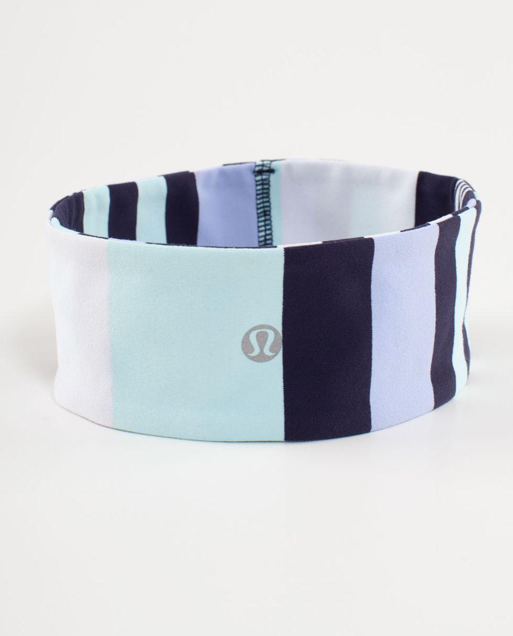 Lululemon Lucky Luon Headband - Discover Stripe White Deep Indigo