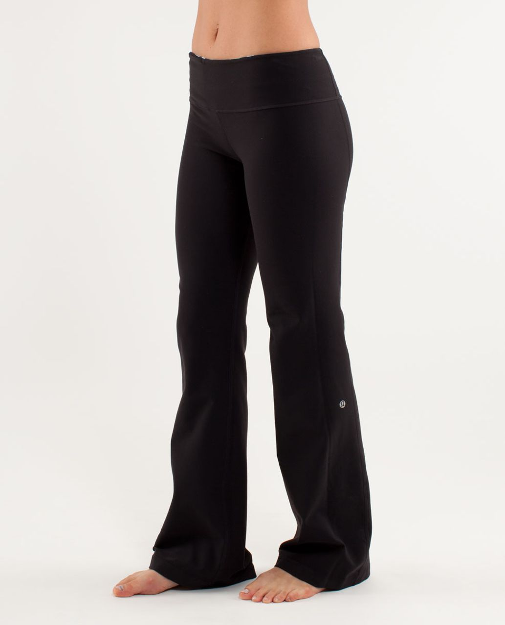 Lululemon Groove Pant (Regular) - Black /  Discover Stripe White Deep Indigo /  Heathered Aquamarine
