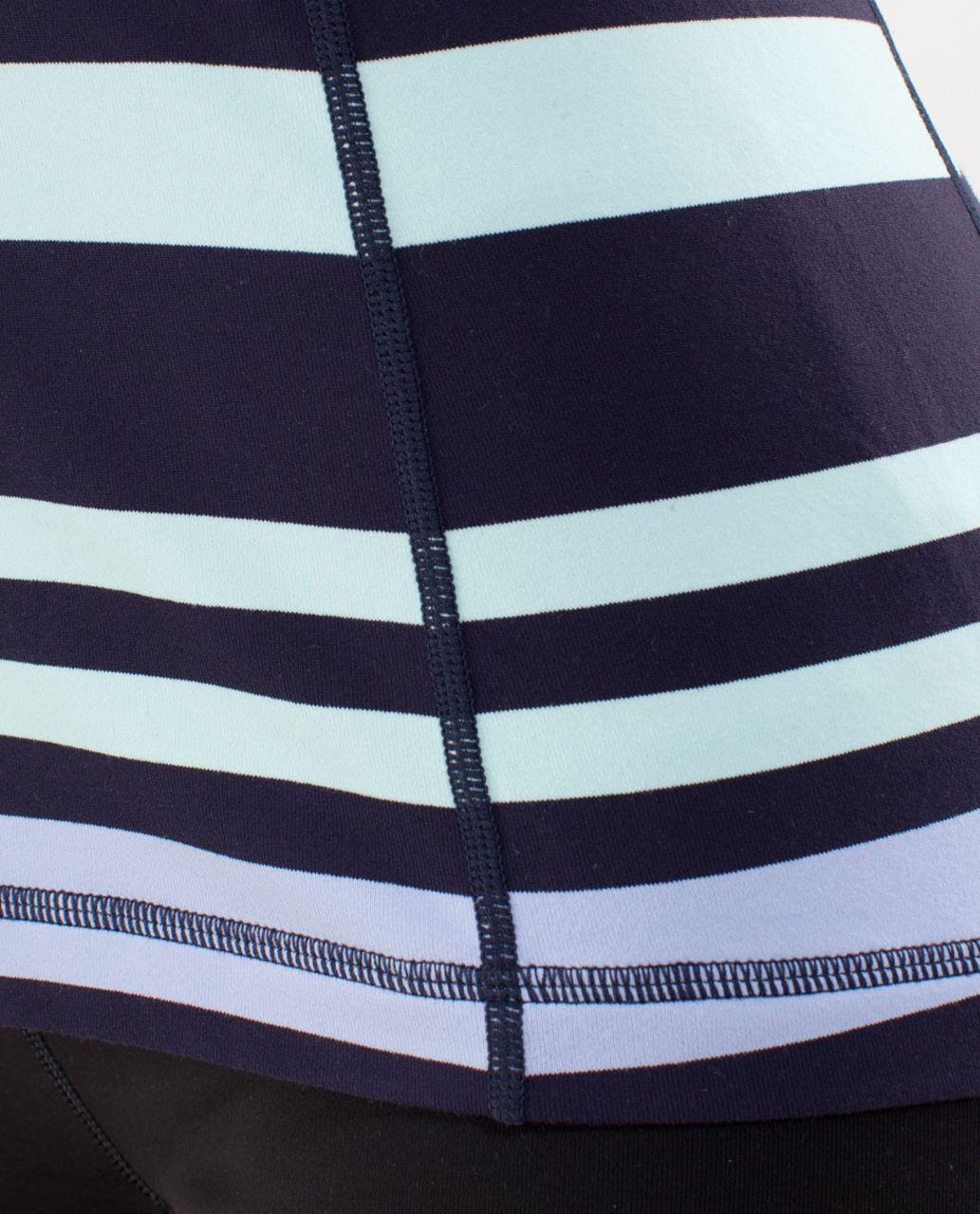 Lululemon Scoop Neck Tank - Discover Stripe White Deep Indigo /  Aquamarine