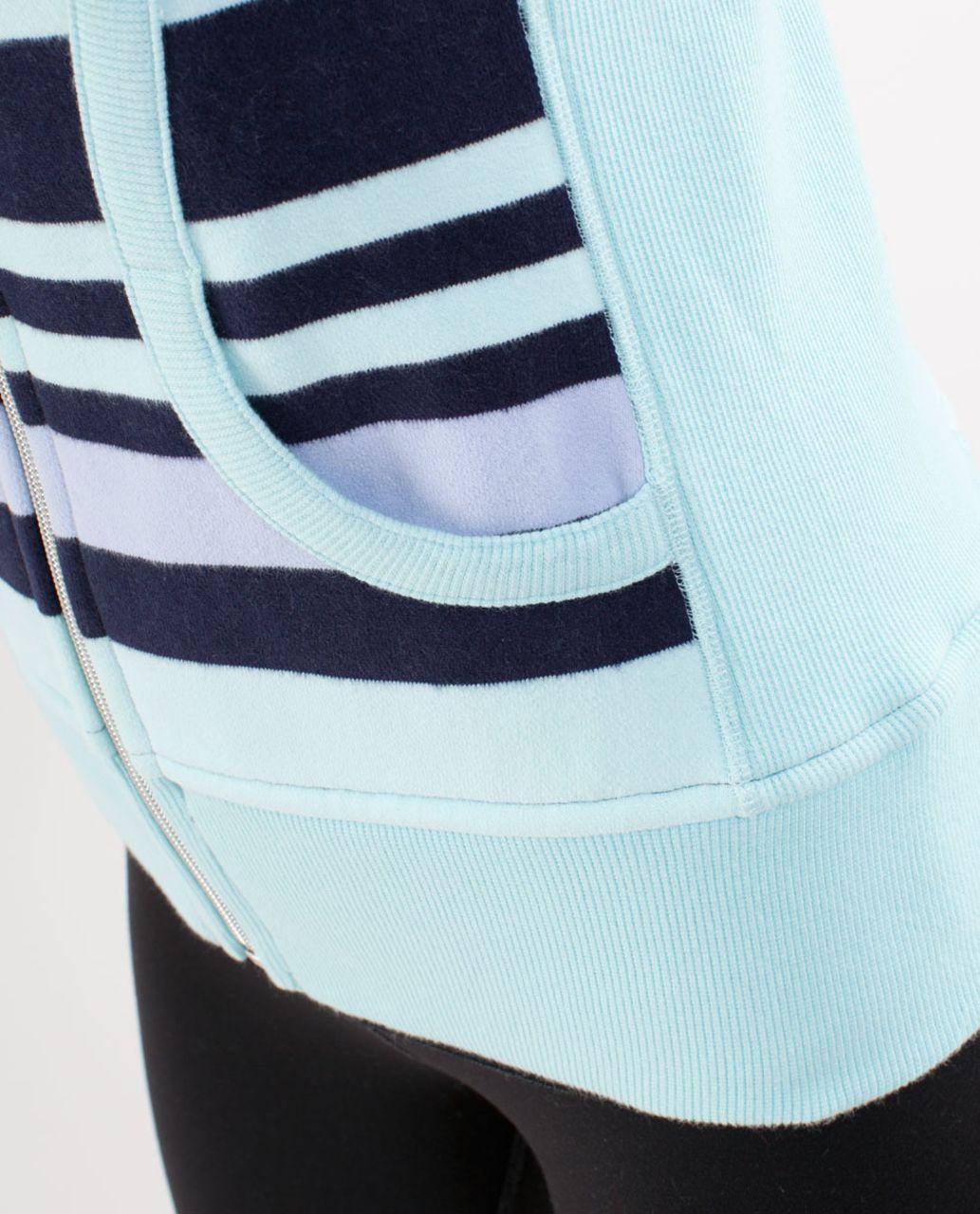 Lululemon Scuba Hoodie *Stripe - Discover Stripe White Deep Indigo /  White /  Aquamarine