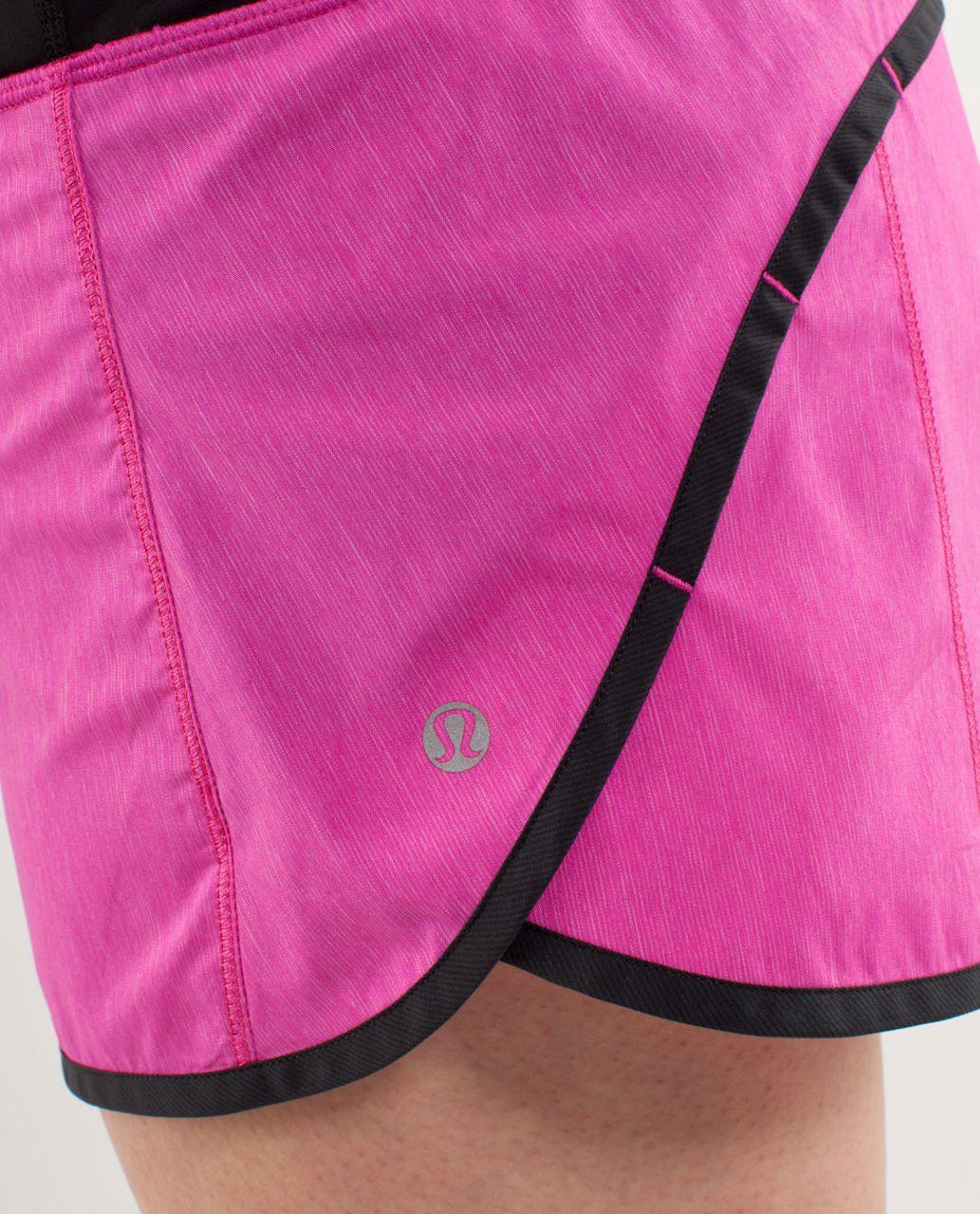 Lululemon Turbo Run Short - Paris Pink /  Black