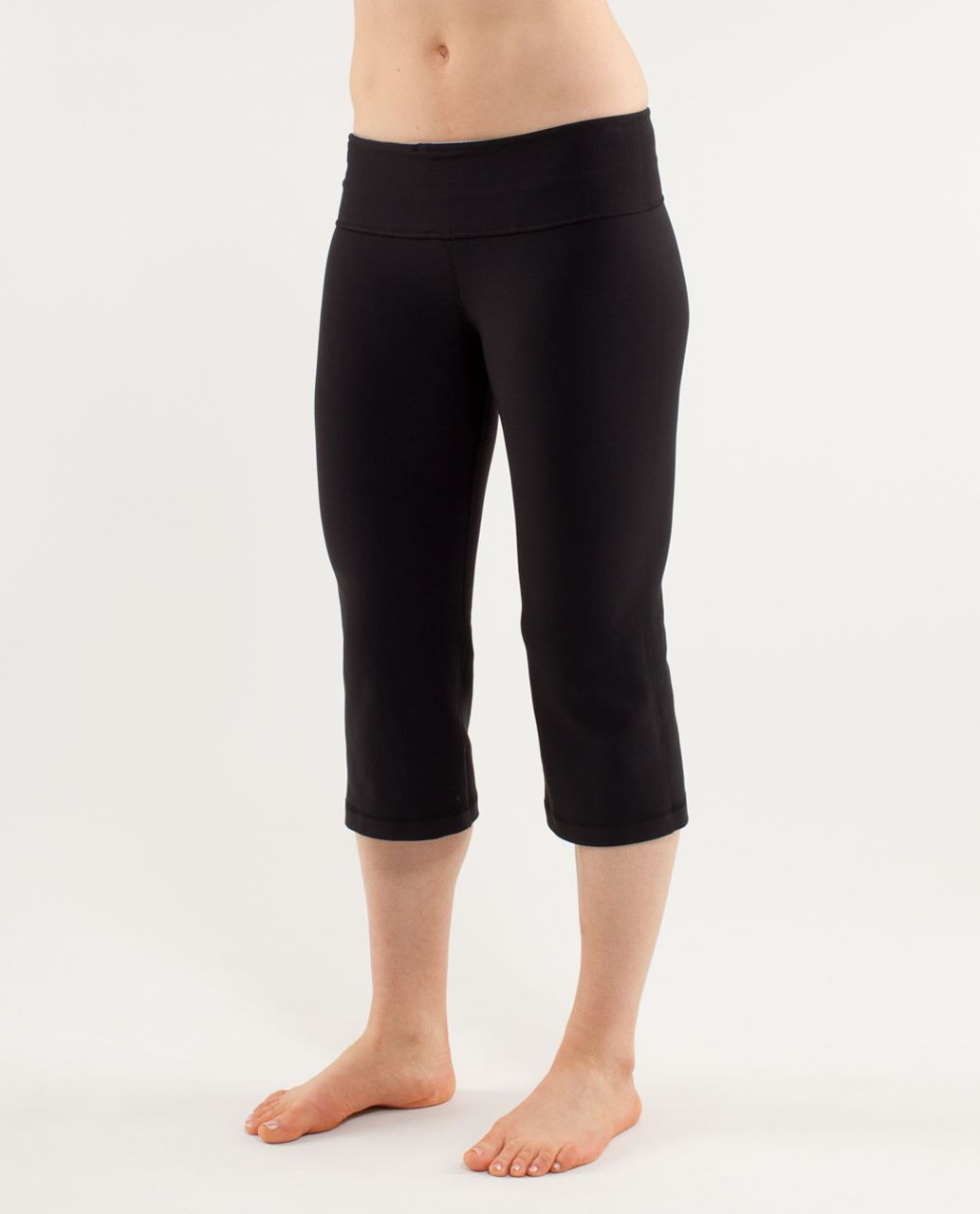 Lululemon Groove Crop - Black /  Heathered Fossil /  Quilting Spring 16