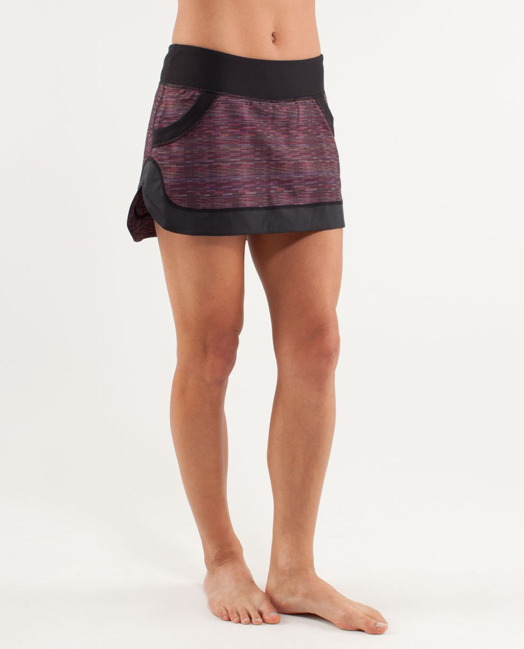 Lululemon Run:  For All Skirt - Wee Are From Space Black March Multi /  Black