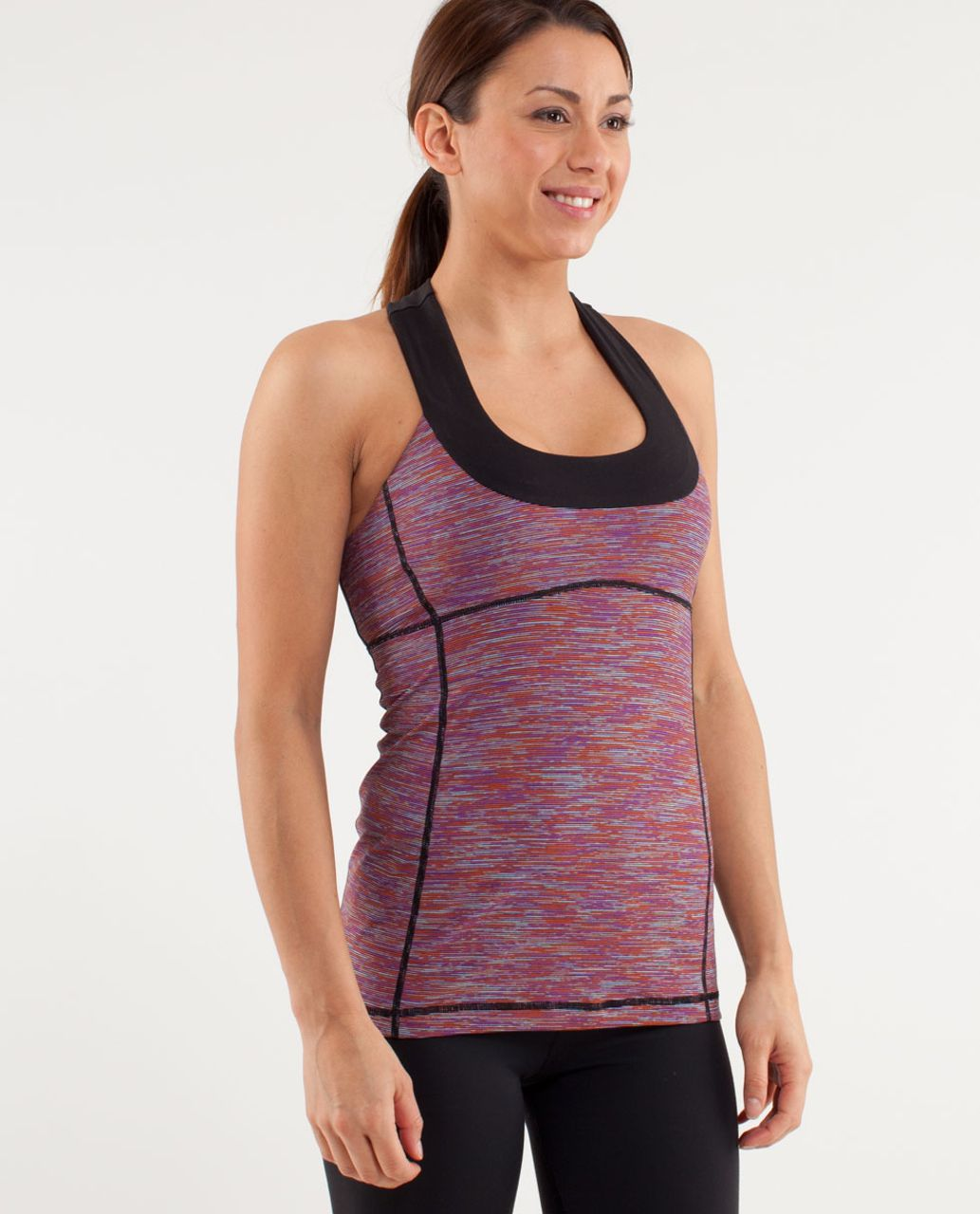Lululemon Scoop Neck Tank - Wee Are From Space Black March Multi /  Black