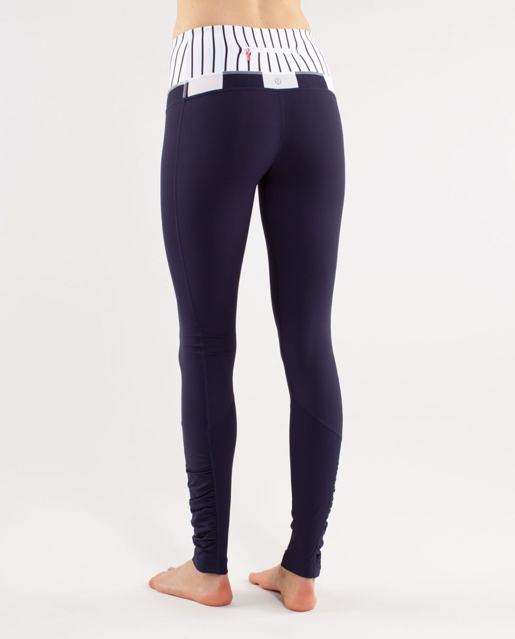 Lululemon Run:  Spirit Tight II - Deep Indigo /  Wide Bold Stripe White Deep Indigo /  Quiet Stripe White Deep Indigo