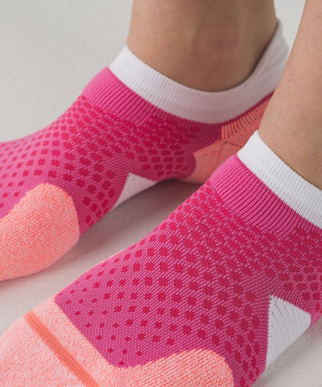 Lululemon High Speed Sock - Boom Juice / Very Light Flare / Pink Paradise