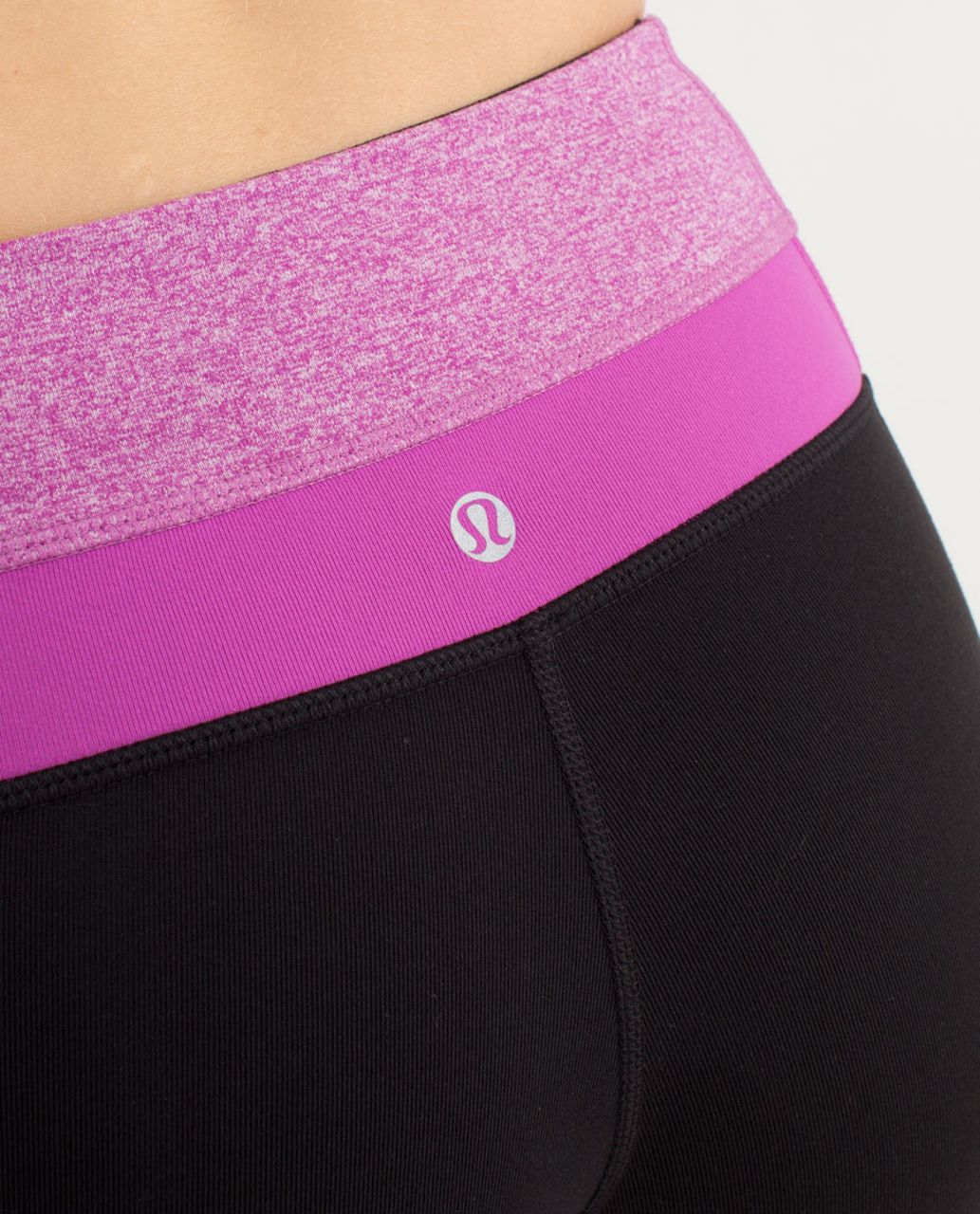 Lululemon Groove Pant (Regular) - Black /  Heathered Ultra Violet /  Ultra Violet
