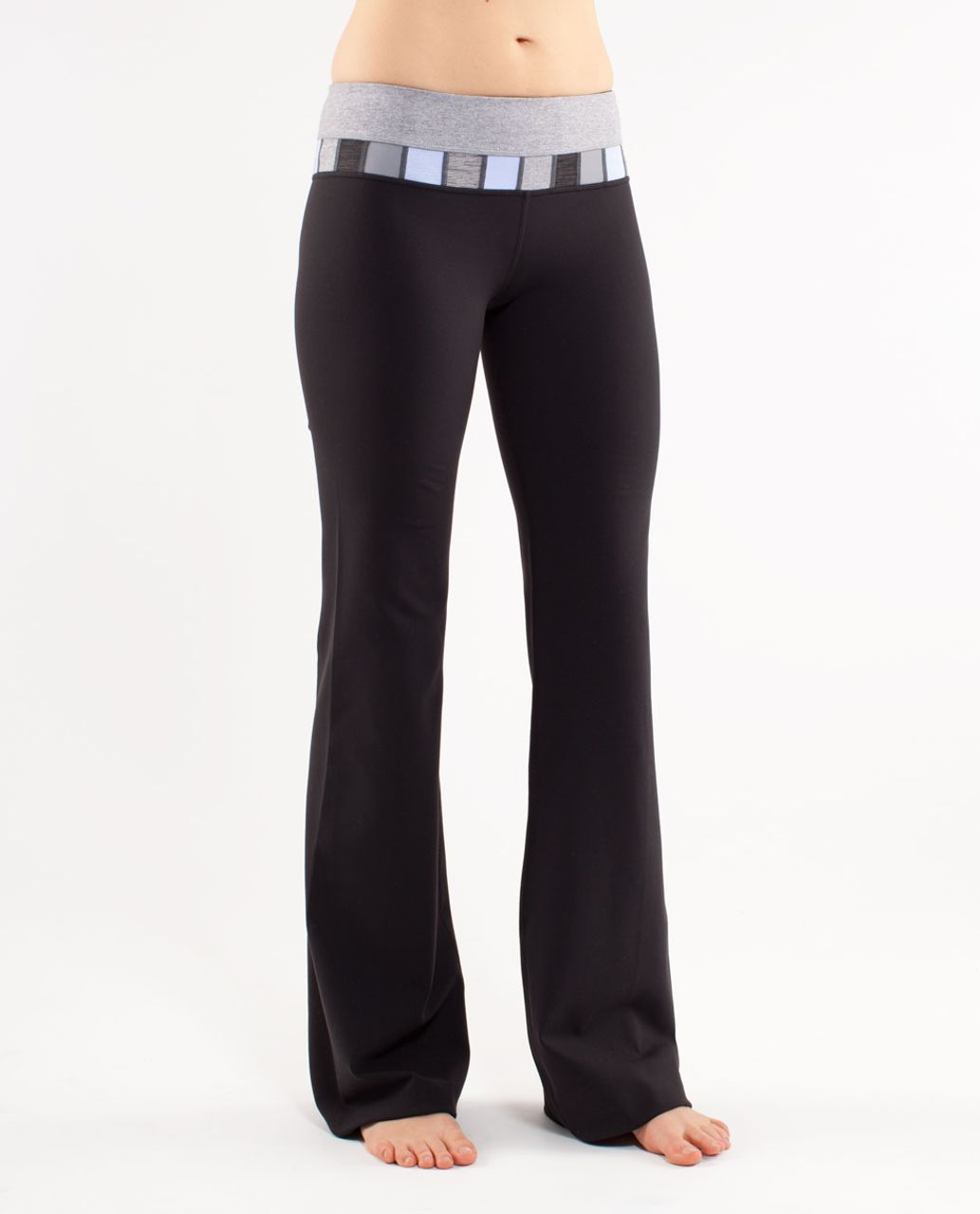 Lululemon Groove Pant (Tall) - Black /  Heathered Fossil /  Quilting Spring 16