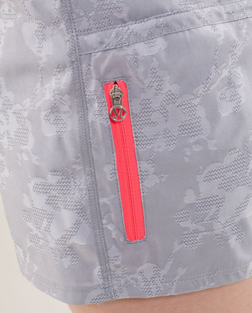 Lululemon Run:  Tracker Short II - Fossil /  Heathered Fossil