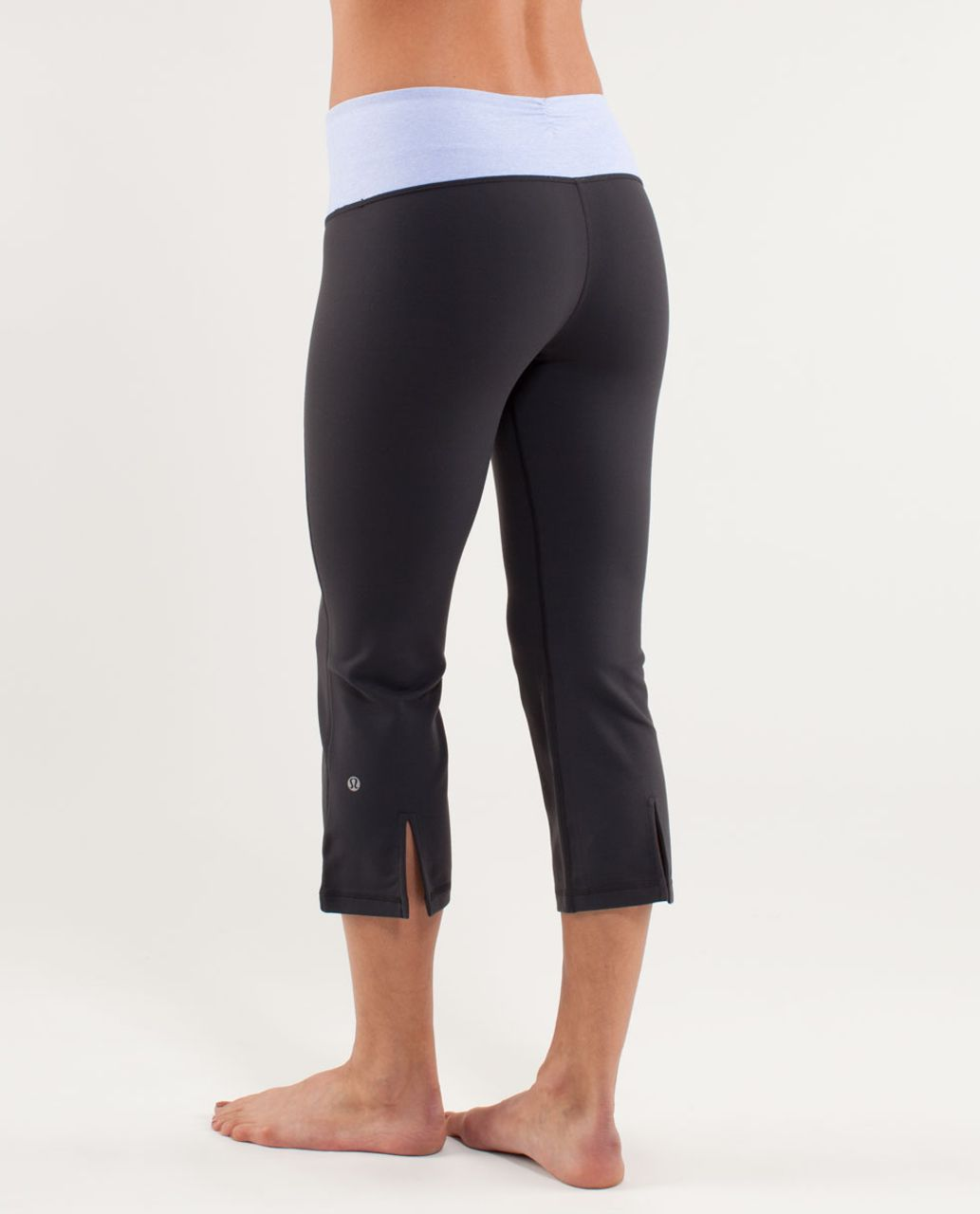 Lululemon Gather & Crow Crop - Deep Coal /  Heathered Lavender Dusk /  Lavender Dusk
