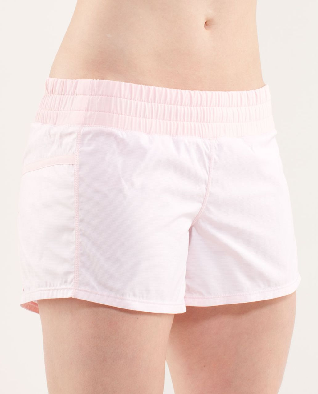 Lululemon Run:  Tracker Short II - Wee Stripe White Blush Quartz /  Blush Quartz