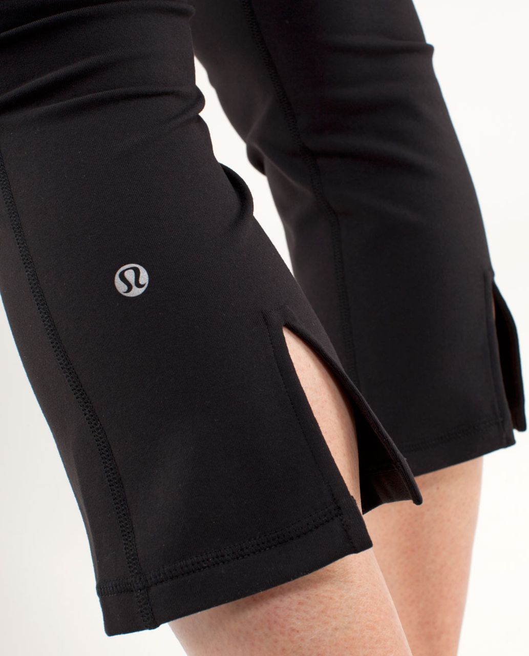 Lululemon Gather & Crow Crop - Black /  Wee Are From Space Black March Multi /  Ultra Violet