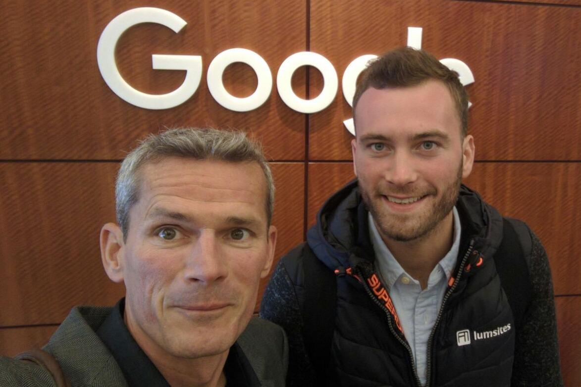 Sebastian and Thomas at Google Mountain View