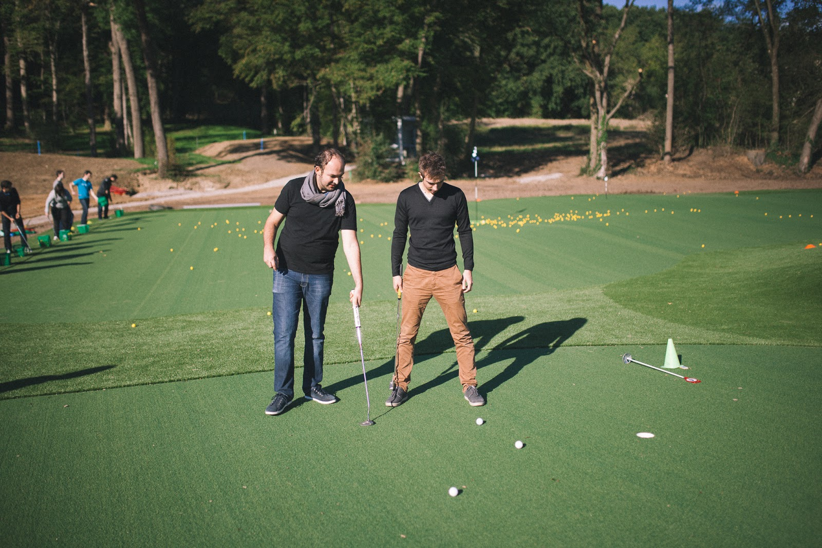 Philippe and Florian golf putting