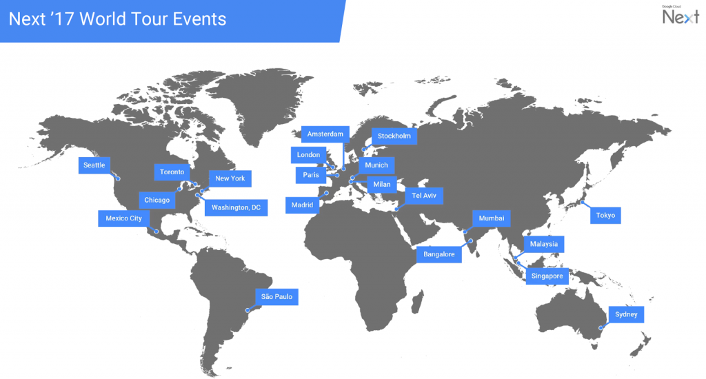 Google Next 2017 World Tour Events