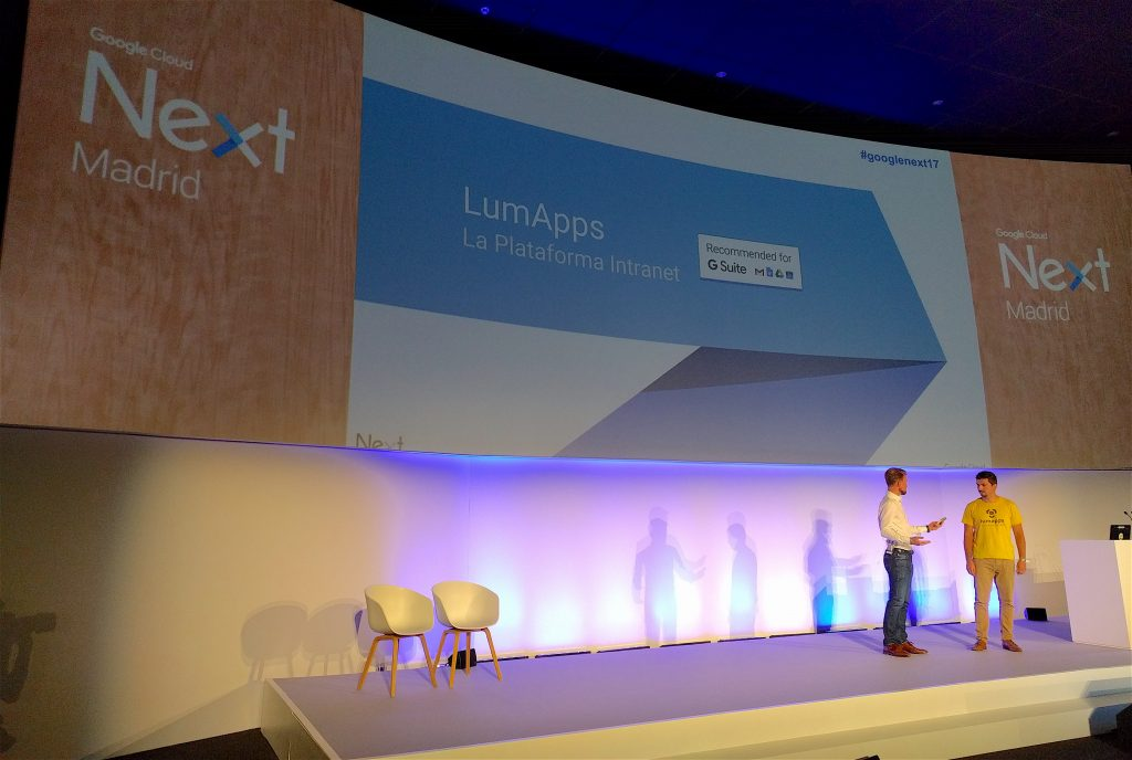 LumApps presentation with Guillaume and Piergiorgio