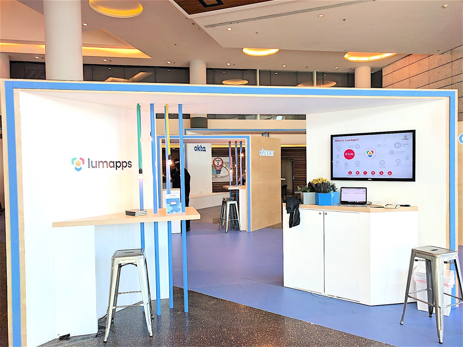 LumApps booth at Google Next Tel Aviv