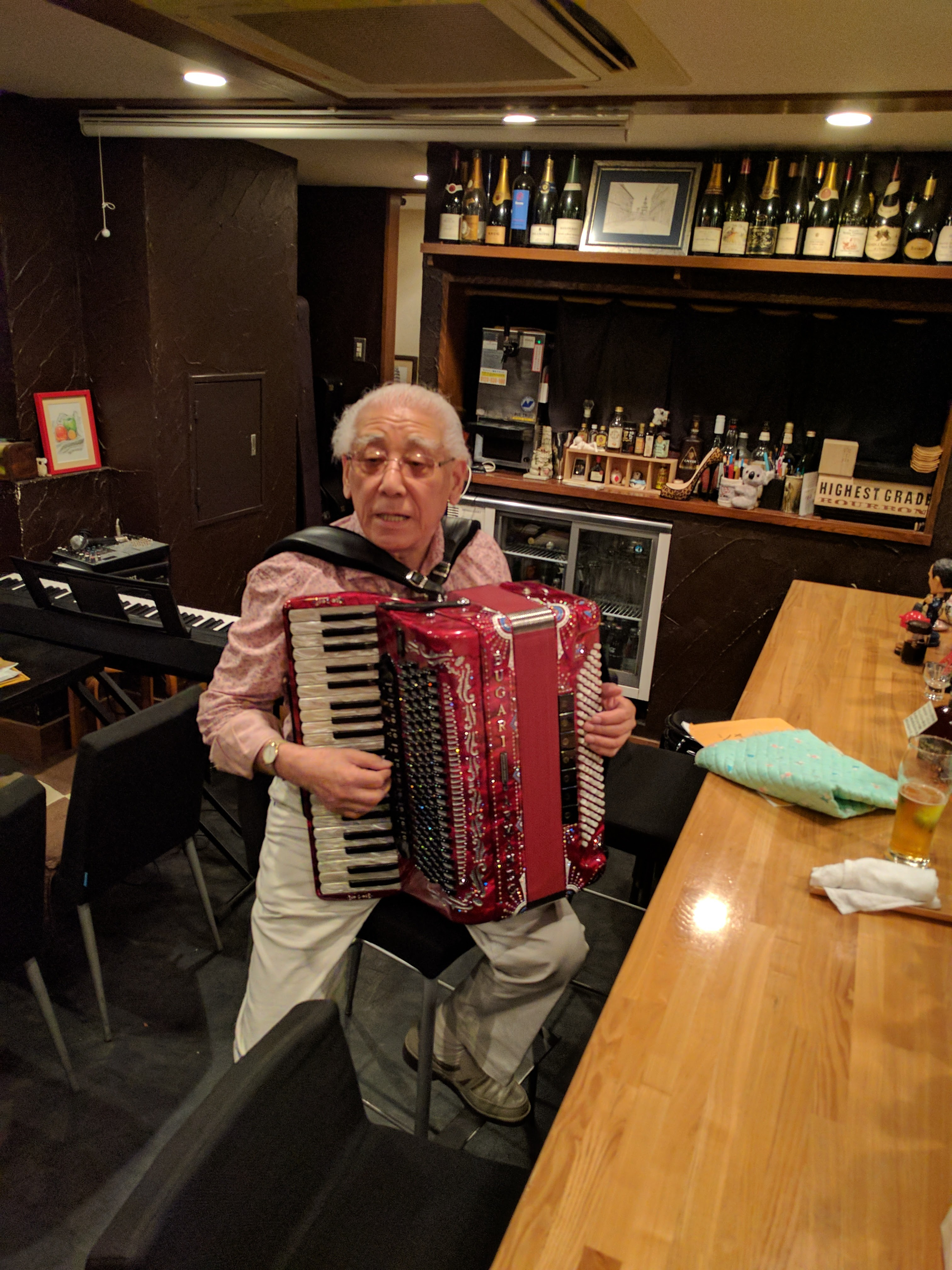 Japanese accordeon player