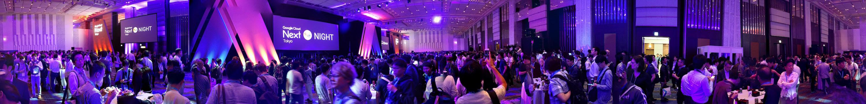 Panoramic view of Tokyo venue