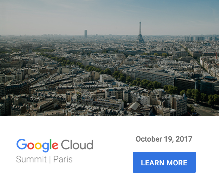 Google Cloud Summit Paris