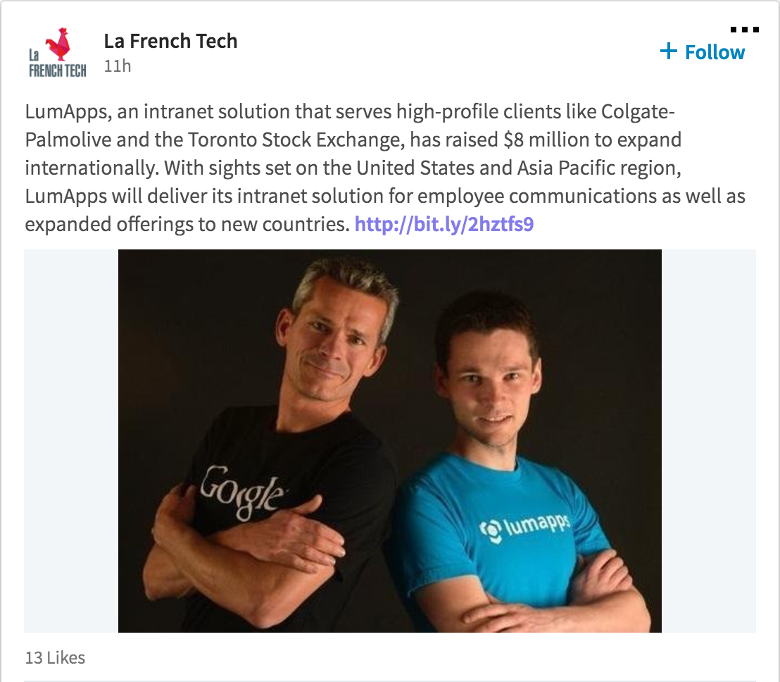 French Tech LinkedIn post