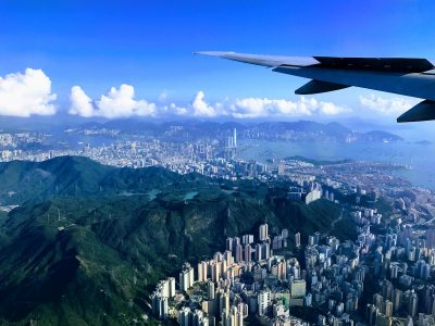 Hong Kong from plane