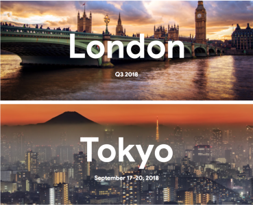 London and Tokyo Q3 2018
