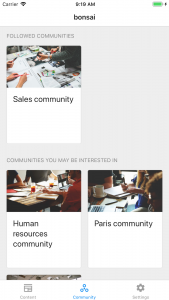 iOS communities