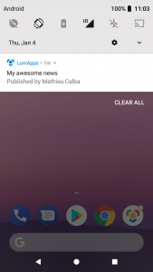 Notification Android small