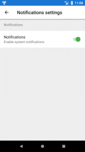 Android Enable notifications