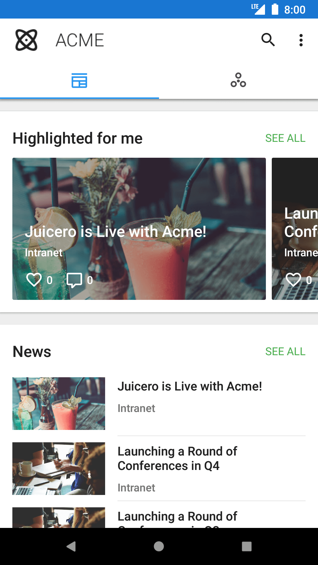 News stream type 1 Android