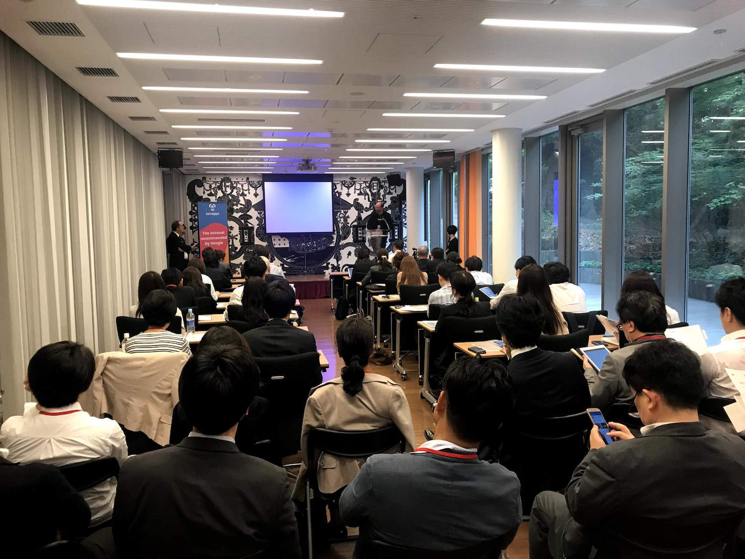 LumApps Japan press conference at French Embassy in Tokyo